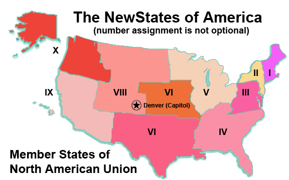 Compare To And Tell Me Where You Think You Live - Agenda 21 map of us