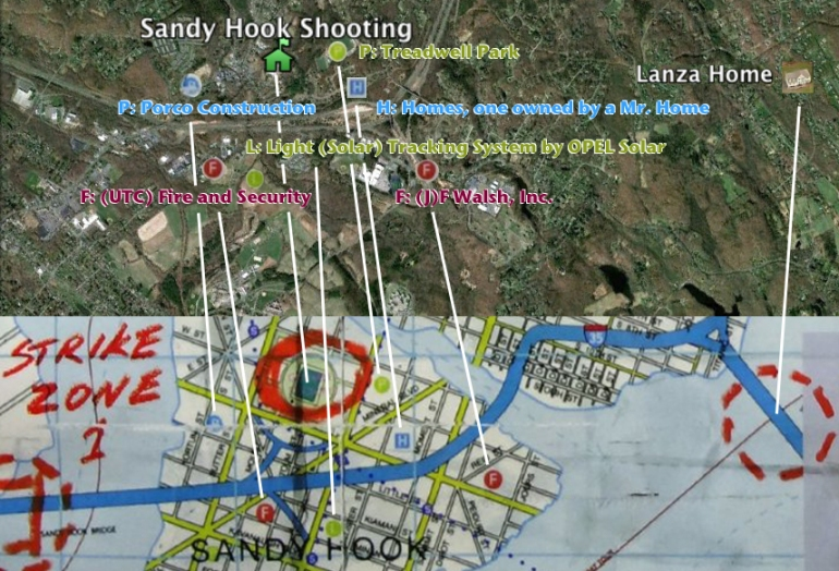 Gotham City and real Sandy Hook compared
