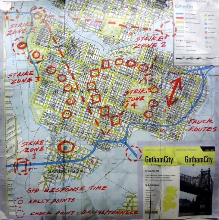 Sandy Hook in Gotham City Map