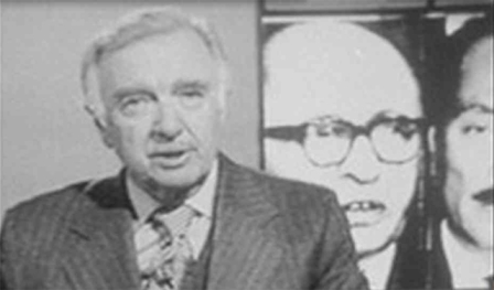In 1968 you got a simple, direct presentation of news. Still images in the background, moving images filled the screen replacing the reporter. Simple, informative.