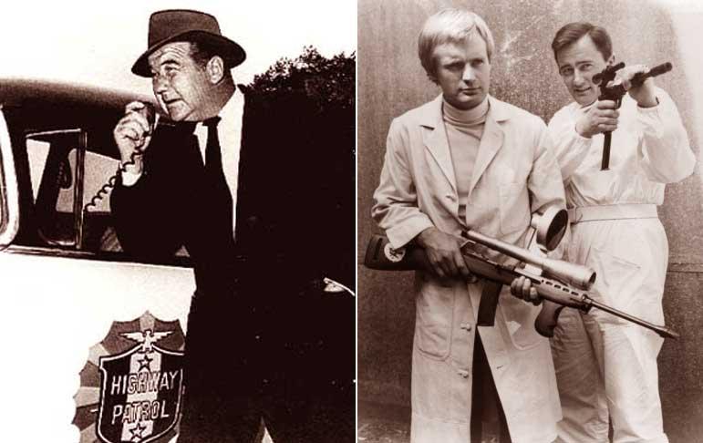 50s & 60s TV: Broderick Crawford's Highway Patrol, and The Man From U.N.C.L.E. featuring Robert Vaughn and David McCallum of NCIS fame as Soviet Illya Kuryakin